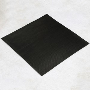 Anti-Static Fine ribbed SBR rubber sheet for power statoins